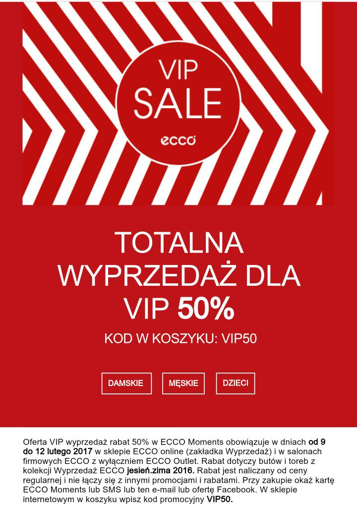 VIP sale Ecco do -50% wybrane buty damskie, męskie i dziecięce