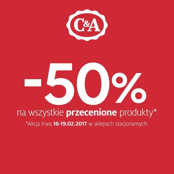-50% na wszystkie przecenione produkty C&A