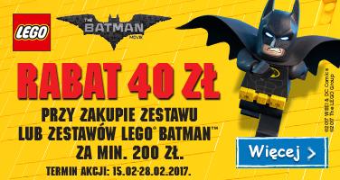 Rabat -40zł na klocki LEGO Batman (MWZ 200zł) @ Smyk