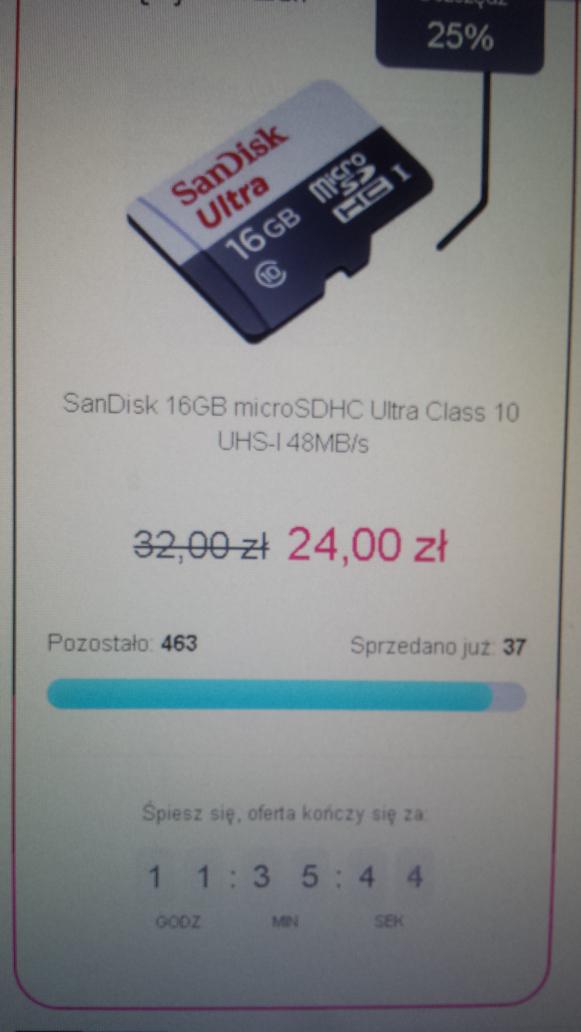 Sandisk 16 gb Class 10