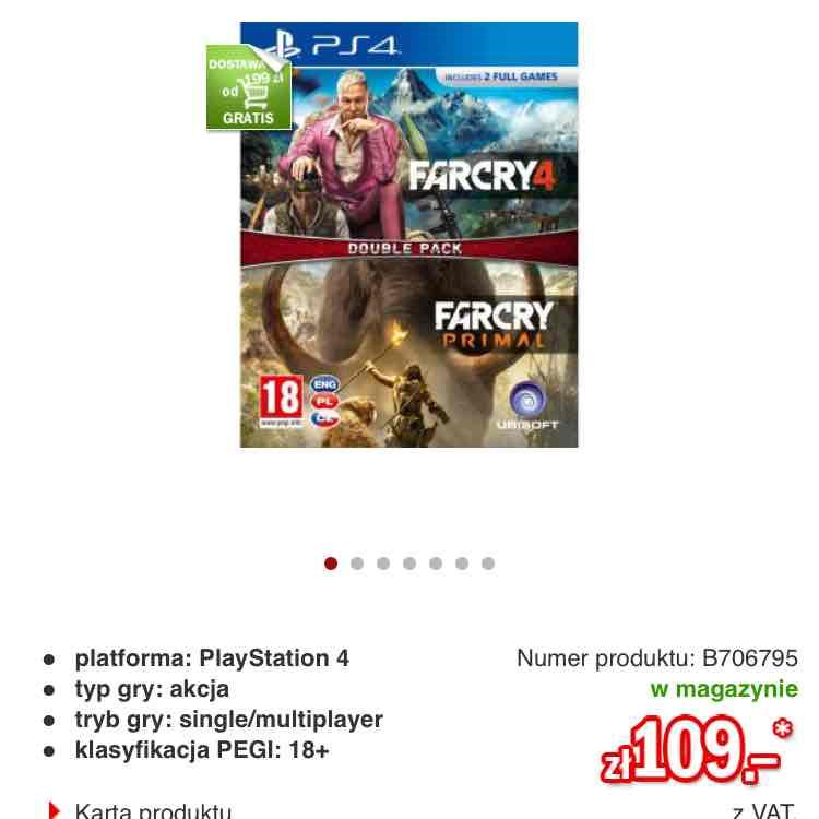 Far Cry 4 + Far Cry Primal PS4