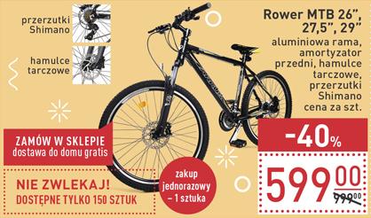 "Rower MTB 26"" 27,5"" 29"" sobota 25.02 Carrefour"
