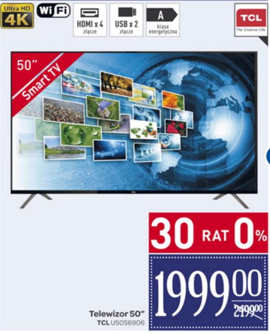 """Telewizor TCL 4K 50"""" w Carrefour"""