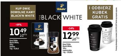 Kubek gratis przy zakupie 2 opakowań kawy Tchibo Black&White @ Żabka