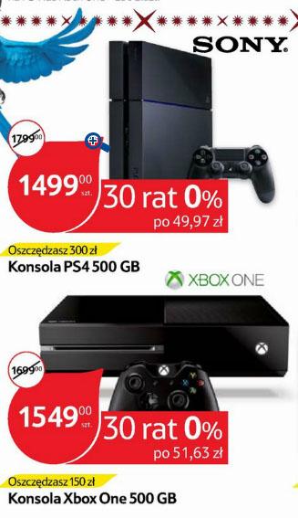 Playstation 4 (500GB) za 1499zł (w wybranych marketach) @ Tesco