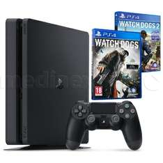 PS4 Slim 1TB + Watch Dogs 1&2