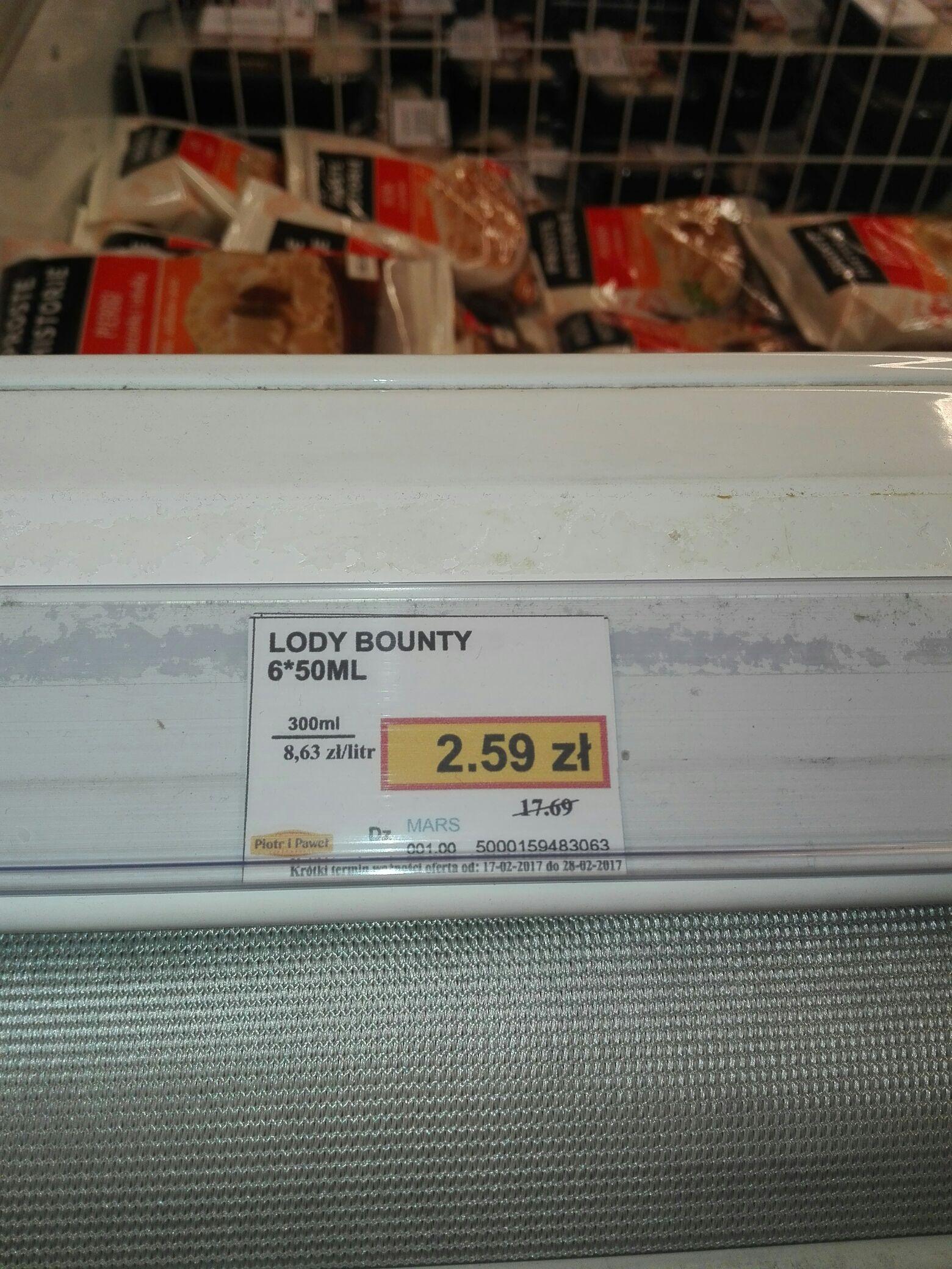 Lody Bounty 6x50ml 85℅ taniej @Piotr i Paweł(Poznań Plaza)