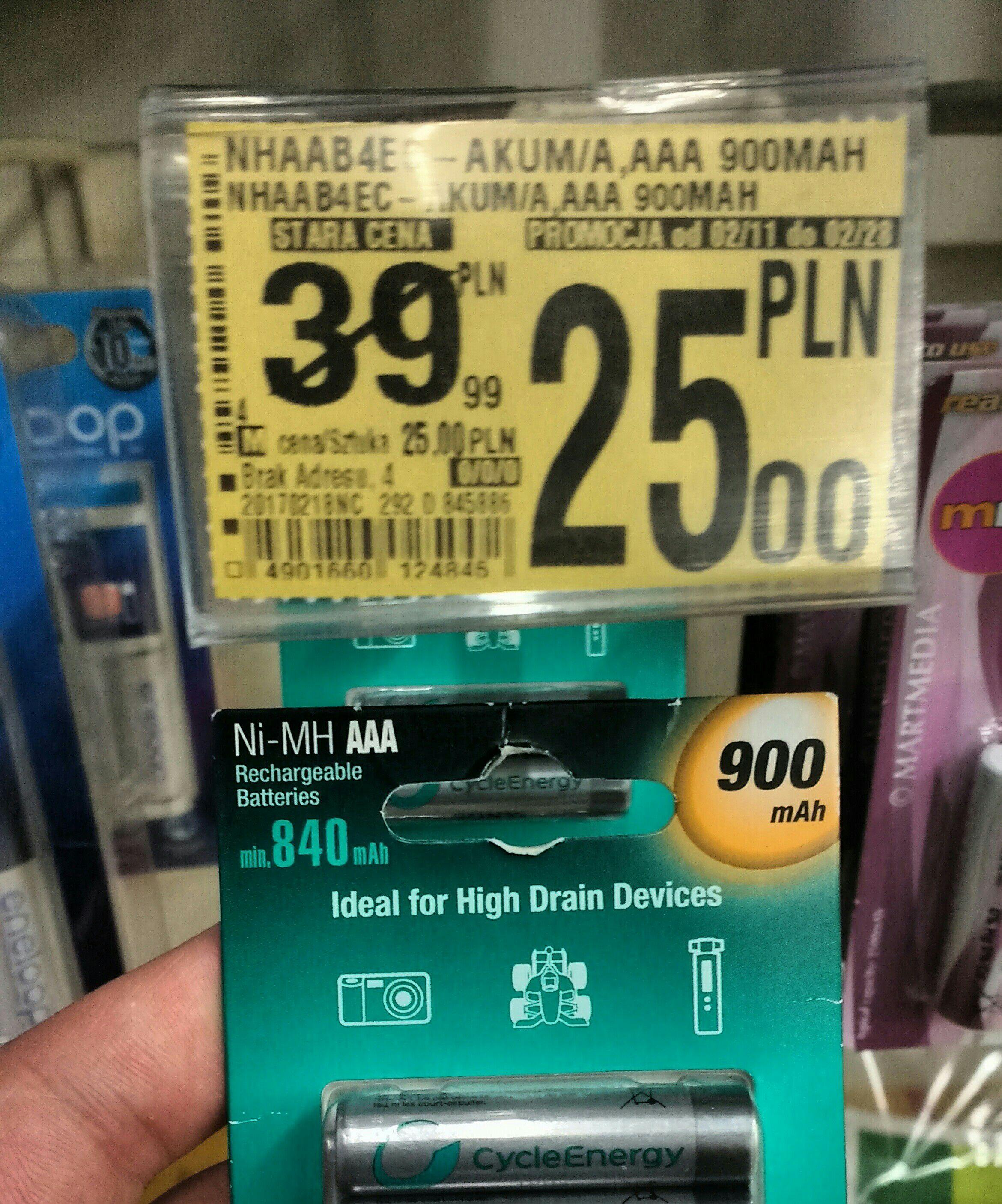 Auchan - Akumulatorki SONY AAA 900mAh