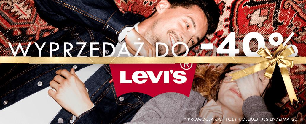 Do 40% rabatu na produkty marki Levi's @ Silesia Jeans