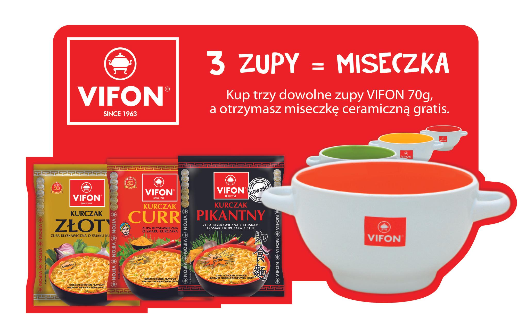 Coś dla studentów:) Kup 3 zupy VIFON i odbierz ceramiczną miseczkę.