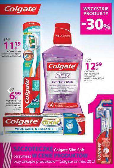 Szczoteczka gratis przy zakupie produktów Colgate za min.20zł (aktualnie -30%) @ Hebe