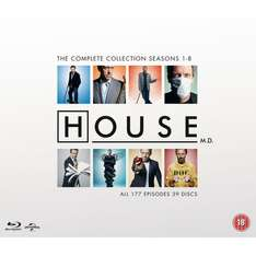 House MD - sezony 1-8 (Blu-Ray, 39 płyt) @ Zavvi