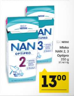 Mleko Nestle NAN 350g za 13zł @ Eko