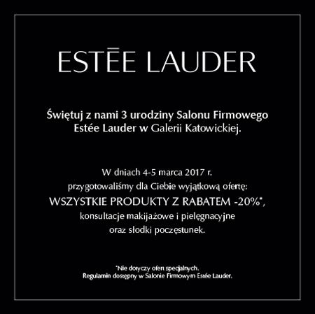 Urodziny salonu Estee Lauder (zniżki,konsultacje,poczęstunek) @ Galeria Katowicka