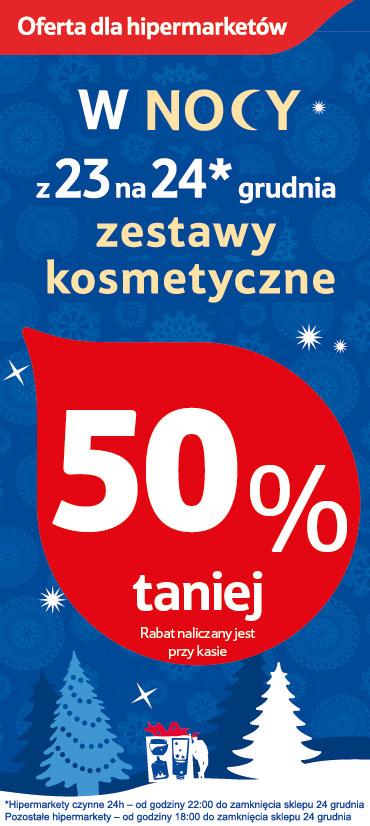 -50% na wszystkie zestawy kosmetyczne @ Tesco