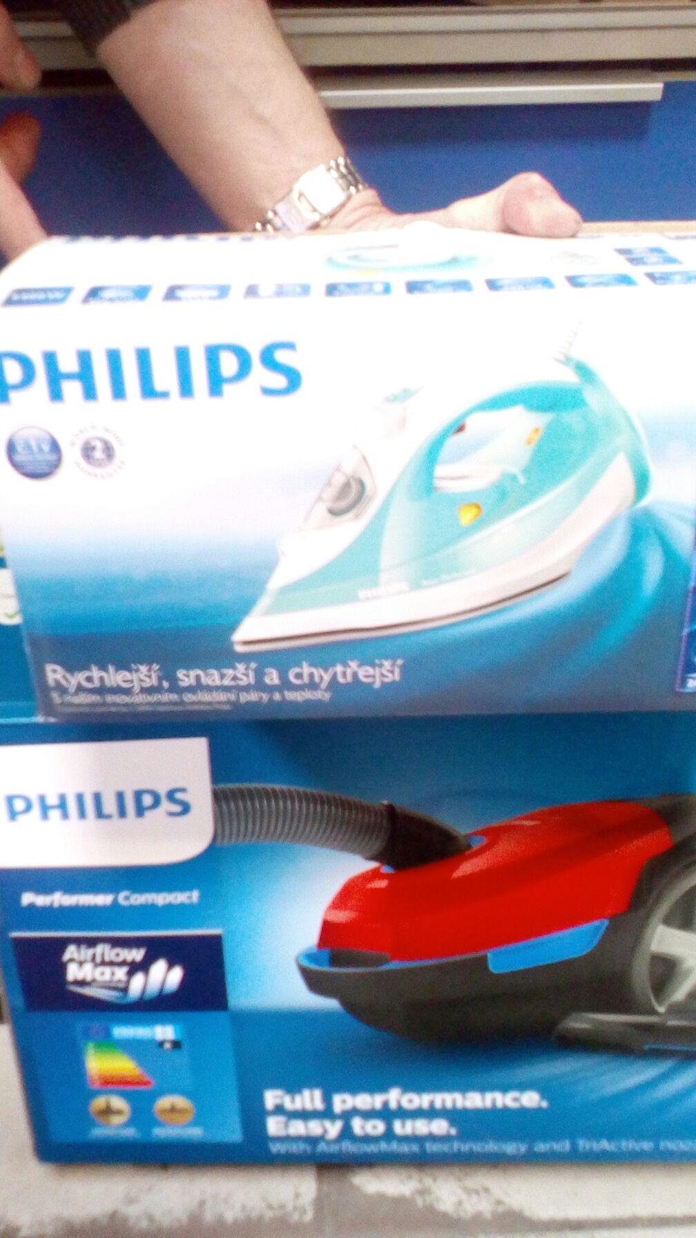 Sprzęt Philips Żelazko za 29.99 zł, odkurzacz 139 zł