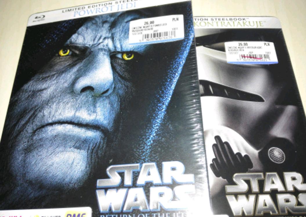 Gwiezdne Wojny, BluRay w steelbooku 26zł/szt. @ Mediamarkt, Warszawa