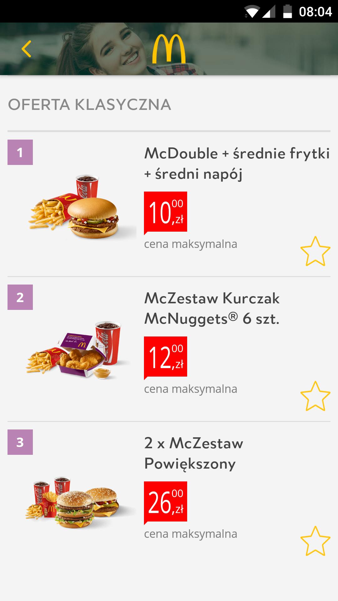 McDonald's nowe kupony