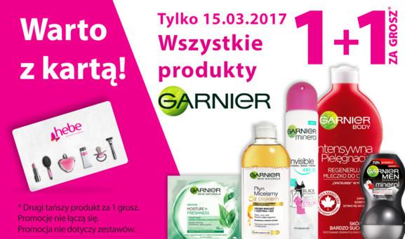 Wszystkie produkty Garnier - 1+1 za GROSZ (DZIŚ) @ Hebe