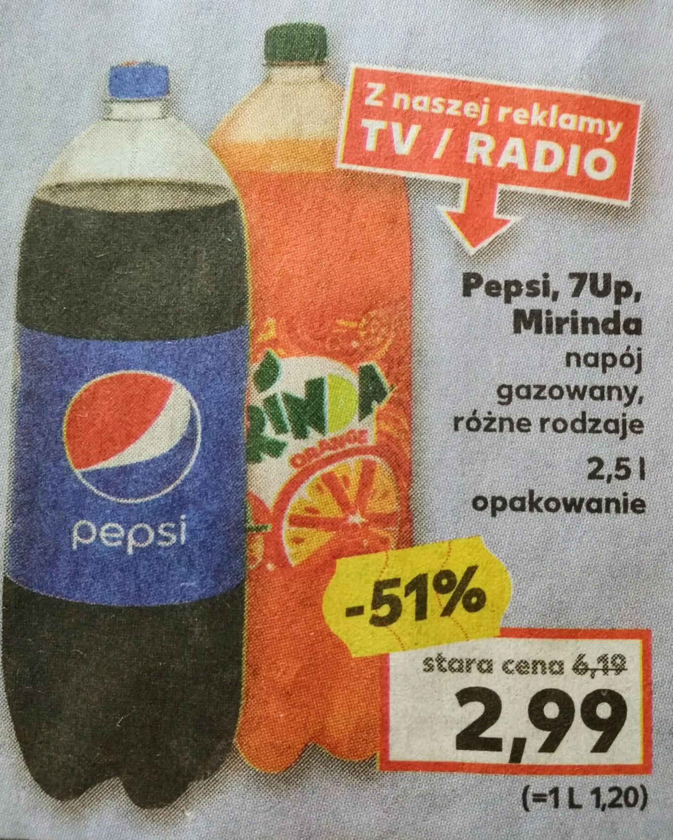 Pepsi, Mirinda, 7up - 2,5L - 2,99pln - Kaufland