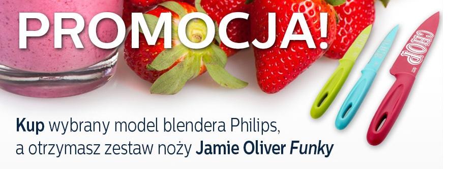Kup blender, a otrzymasz zestaw noży Jamie Oliver Funky @ PHILIPS