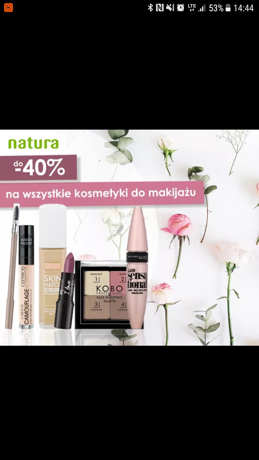 Do -40% na kosmetyki do makijażu