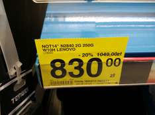 "Lenovo 14"" (14"", 2GB RAM, Intel N2840) @ Carrefour"