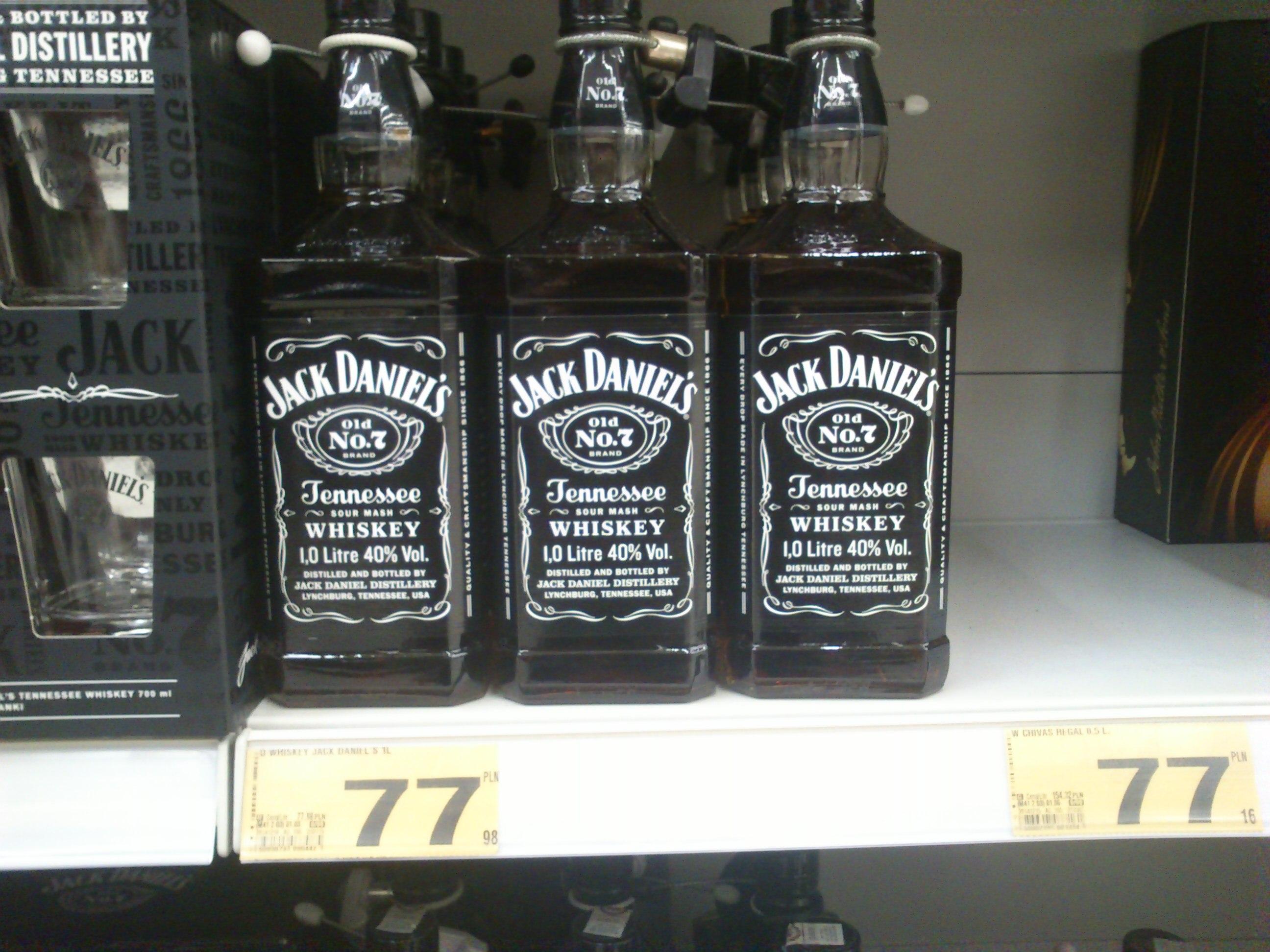 Jack Daniel's 1L za 77,98zł @ Auchan