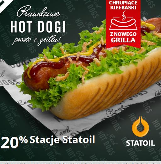 Zwrot 20%wartości transakcji za zakup hot-dogów na stacjach Statoil @ mBank (mOkazje)