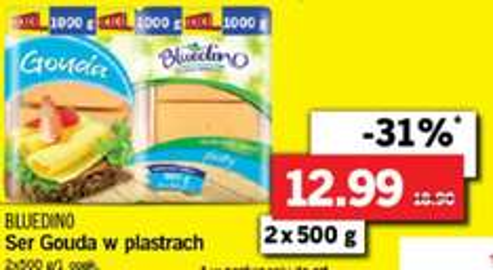 Ser Gouda Bluedino 2x500g-12.99/Ariel żel do prania-18.88zł/Nudle Knorr 0.99zł od 23marca @Lidl