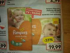 Pieluchy Pampers sleep&play Kaufland od 27.03-29.03