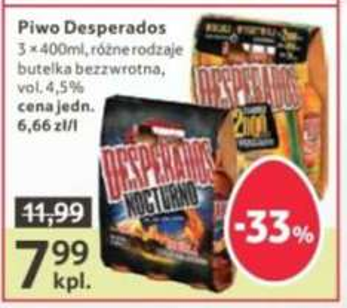 Piwo Desperados 3x400 ml różne rodzaje @Tesco
