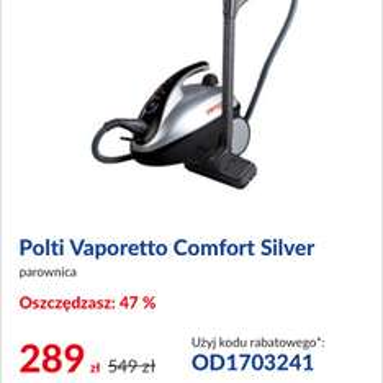 Parownica Polti Vaporetto Pure i Comfort @RTVEUROAGD