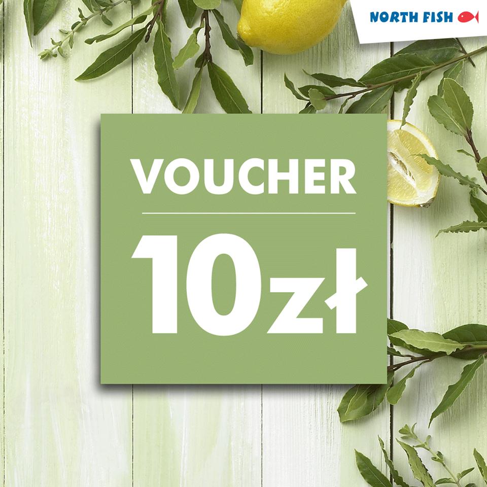 Voucher o wartości 10zł do wykorzystania na kolejne zamówienie @ North Fish
