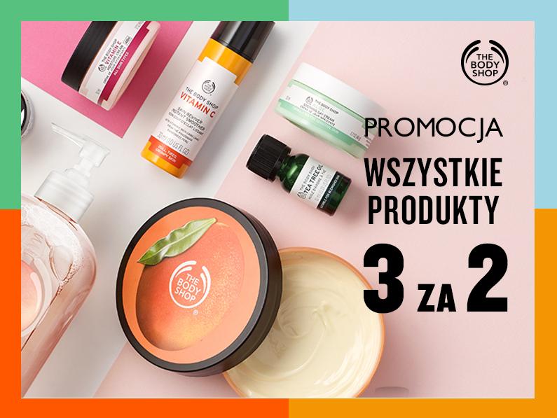 """Wszystkie produkty w promocji """"3 za 2"""" @ The Body Shop"""