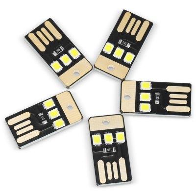 5 sztuk USB LED Mini Flashlight