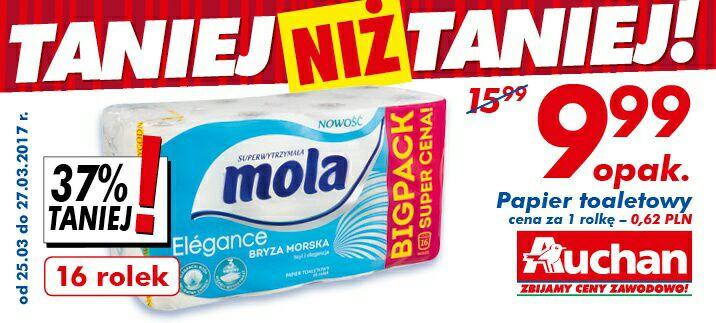 Papier toaletowy Mola 16 rolek @Auchan