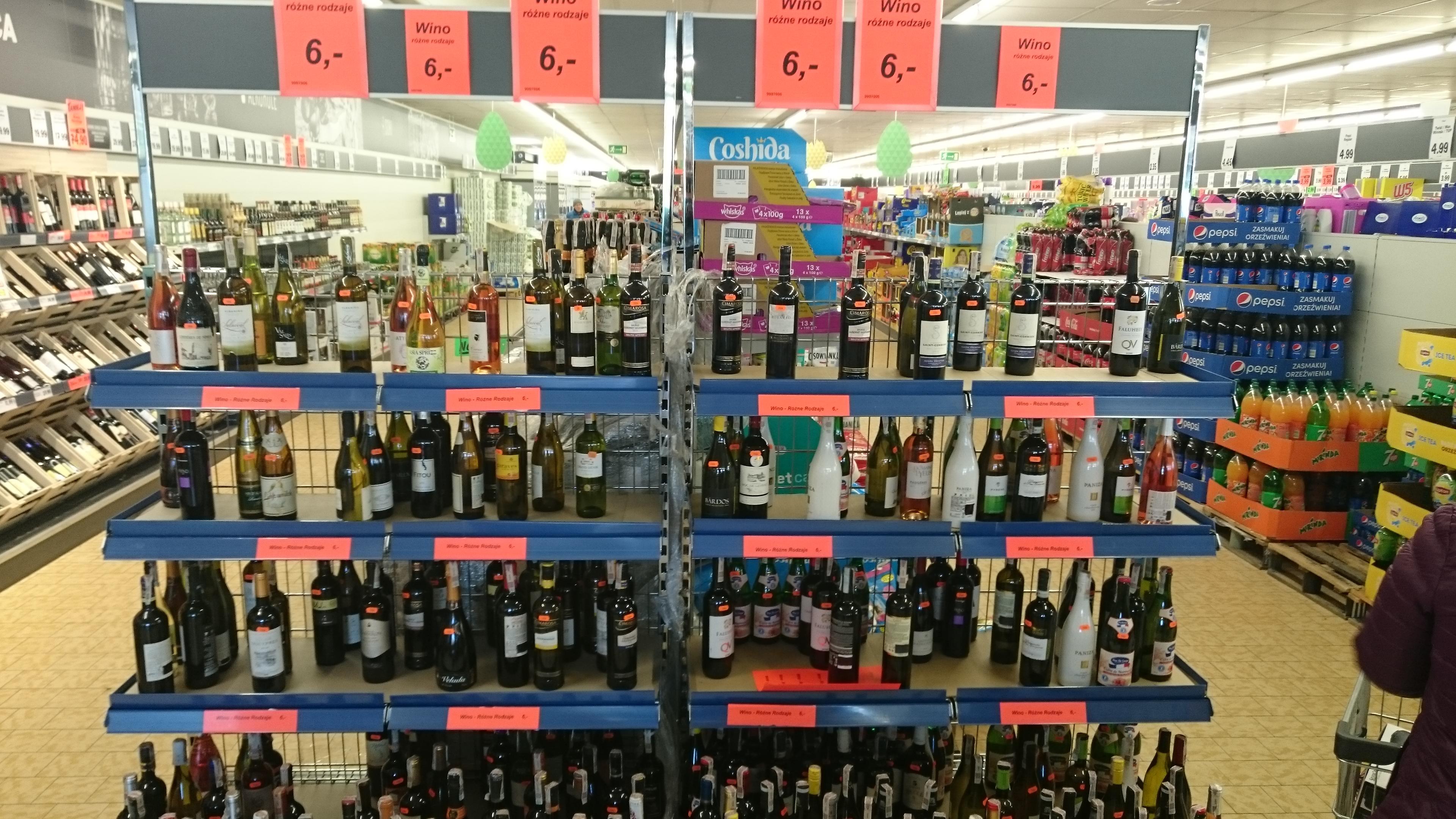 Mnóstwo win po 6zł w lidlu