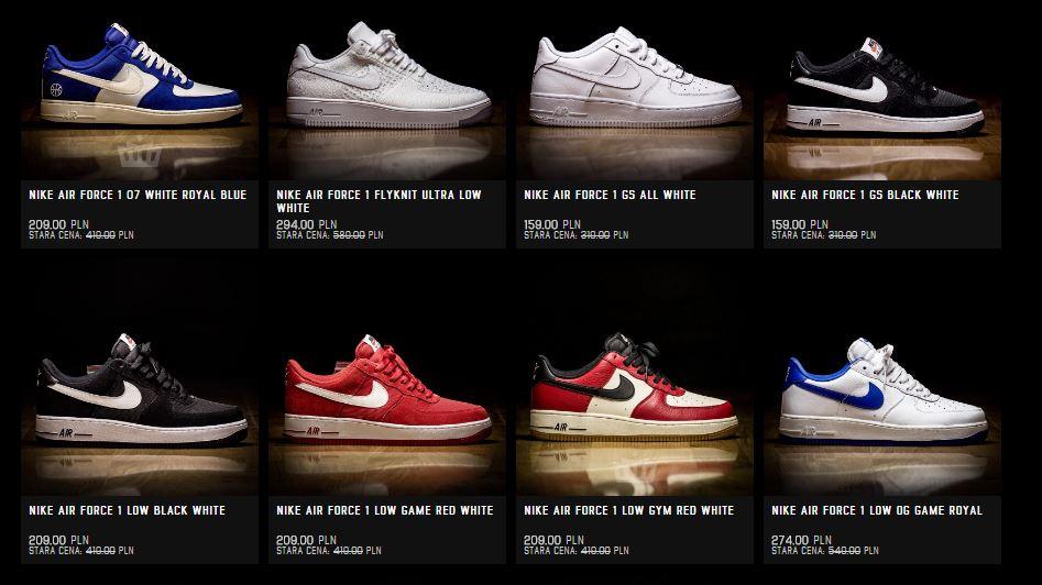 Wszystkie modele Nike Air Force 1 oraz Lunar Force 1 50% taniej @ ATAF