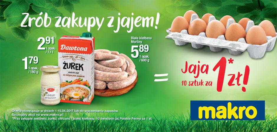 Forma do pieczenia lub 10 jaj za symboliczne 1zł przy zakupie wybranego zestawu produktów spożywczych @ Makro