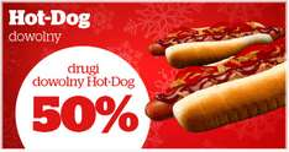 Drugi Hot Dog 50% taniej @ Statoil