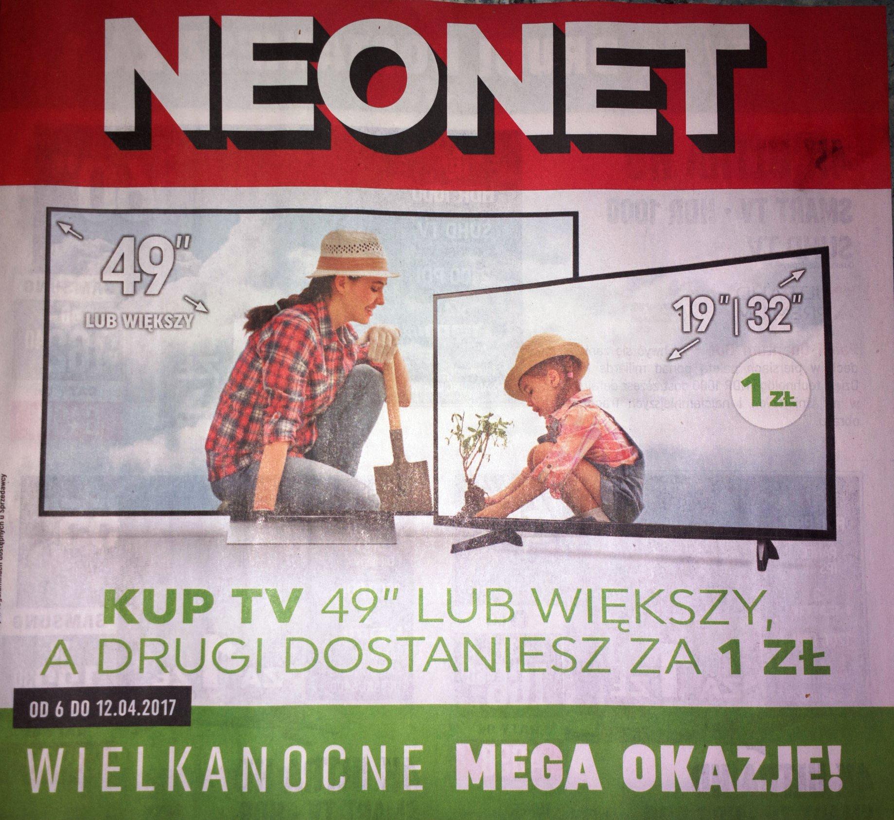 """Kup TV 49 cali, drugi o przekątnej 19-32"""" za 1 zł."""