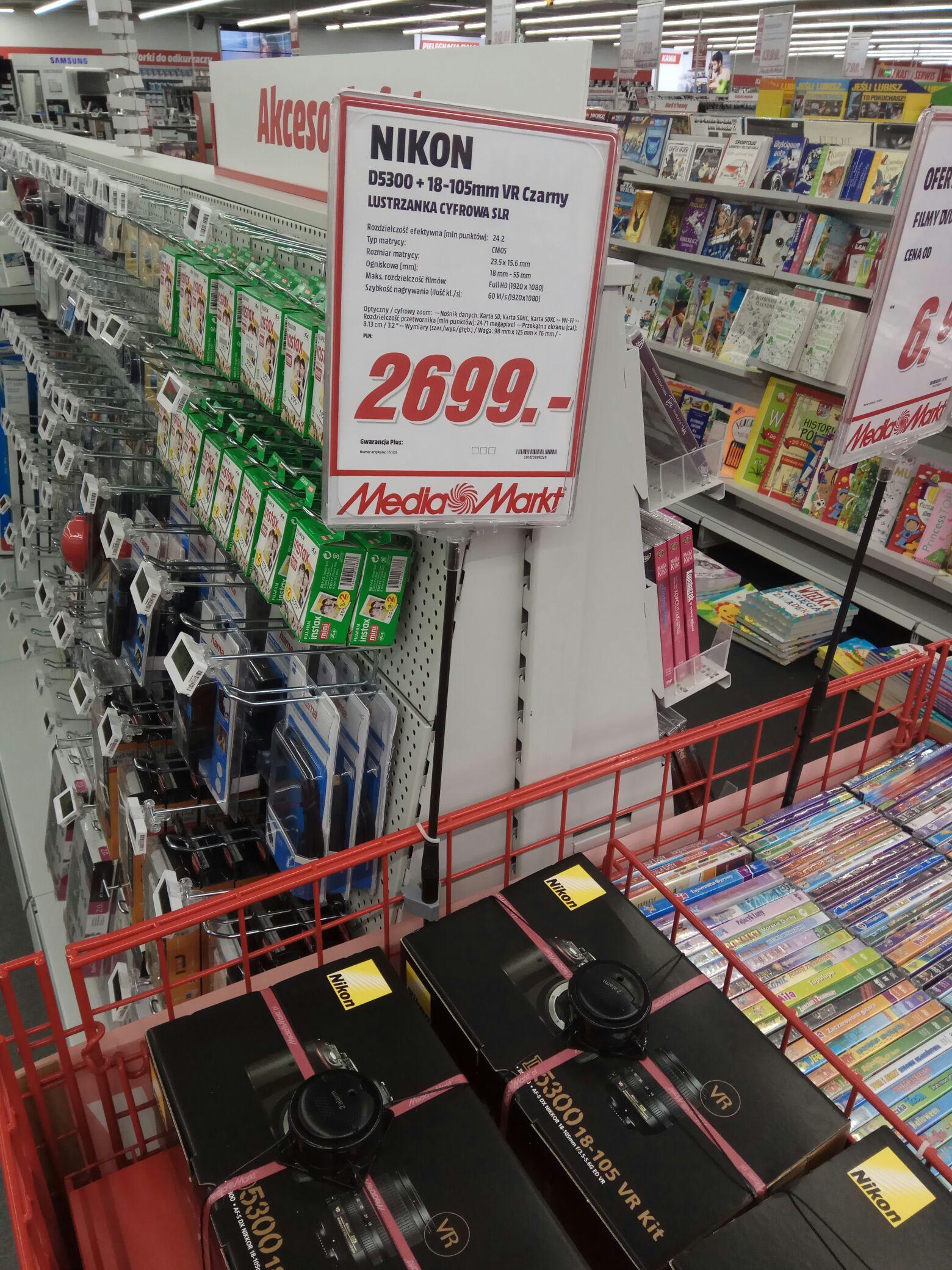 Nikon D5300 18-105 MediaMarkt Olsztyn