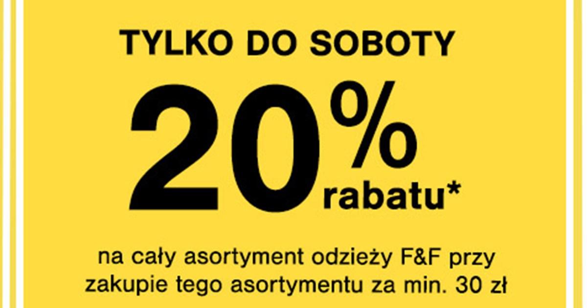 20% rabatu przy zakupach za min. 30 zł