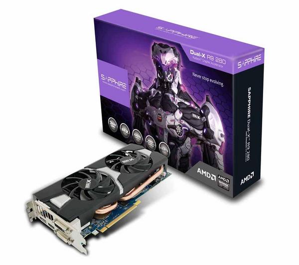 Karta graficzna Sapphire R9 280 z Boost 3 GB GDDR5 PCI-Express za 814zł + 63 zł dostawa @ Pixmania.pl