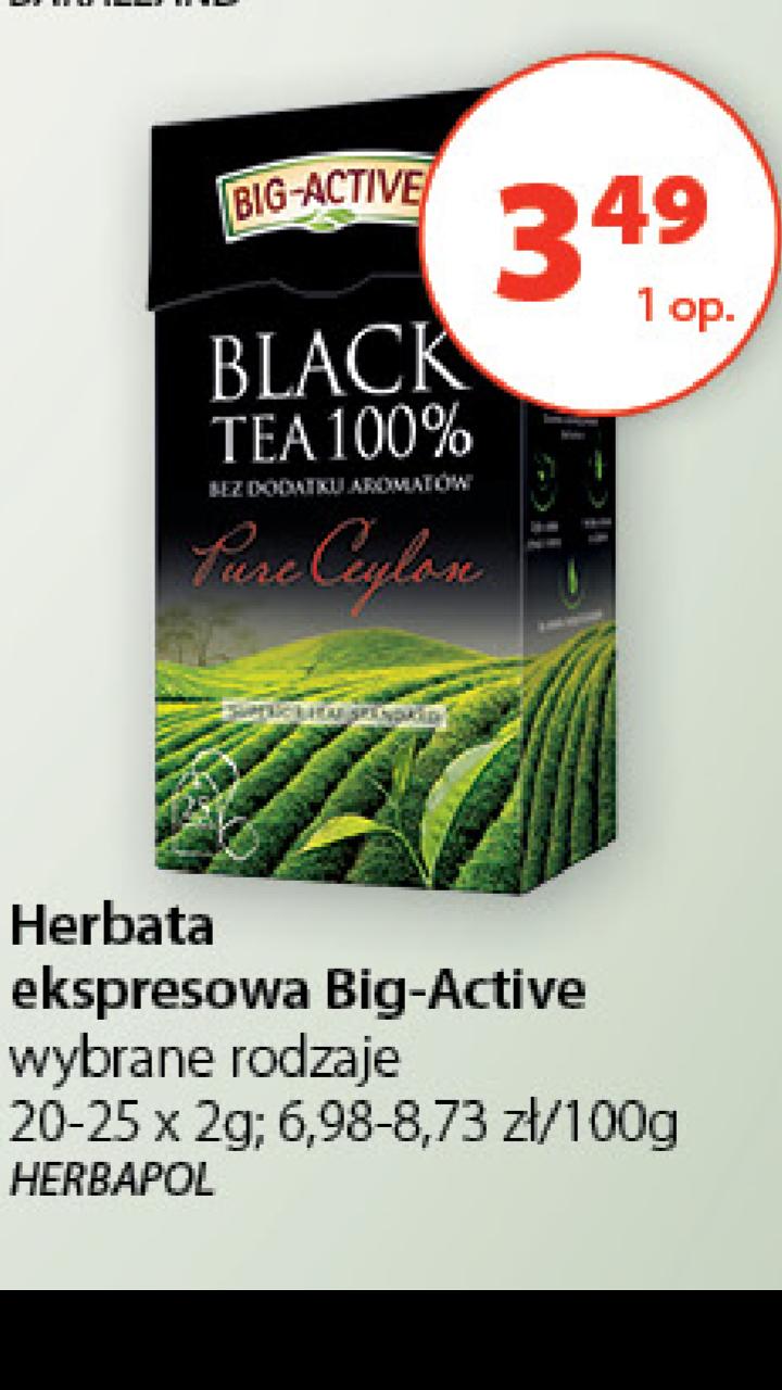 Herbaty Big Active w dobrej cenie @Groszek