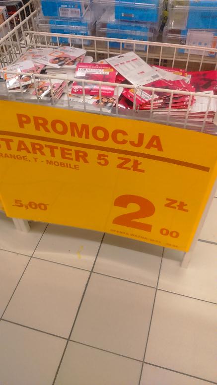 Startery Tmobile.Orange po 2 zł Auchan Wola Park Warszawa
