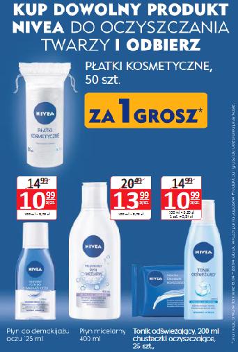 Płatki kosmetyczne za 1 grosz przy zakupie produktu Nivea do oczyszczania twarzy @ Natura