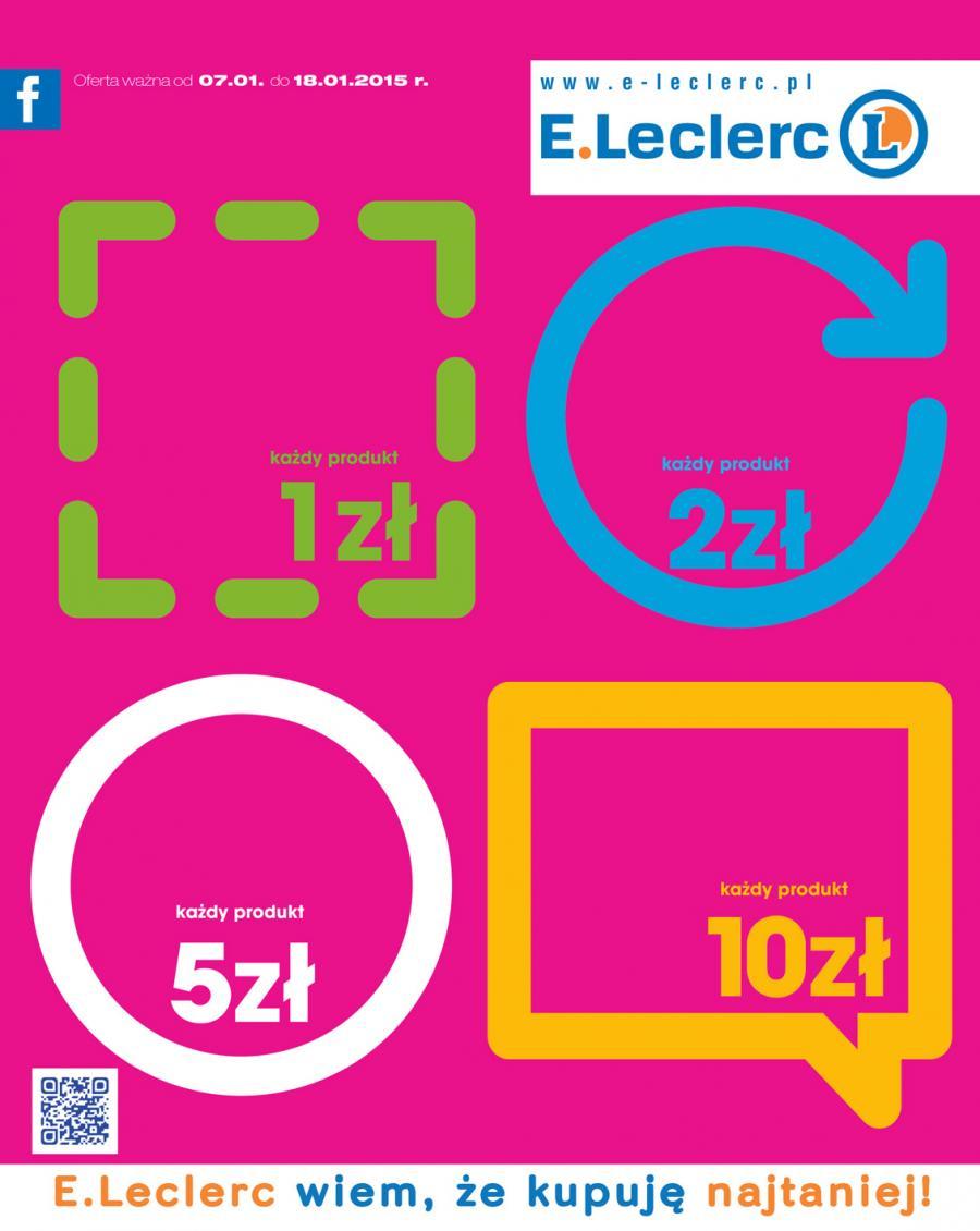 Rozmaite produkty w cenach od 1zł do 10zł @ E.Leclerc