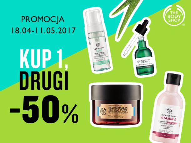 -50% na drugi produkt oraz akcesoria za 9,90zł @ The Body Shop
